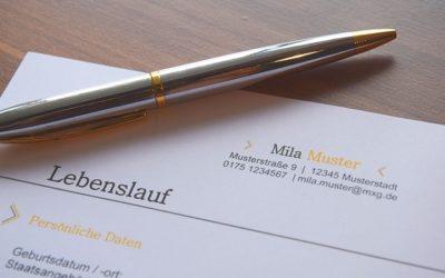 CV v němčině