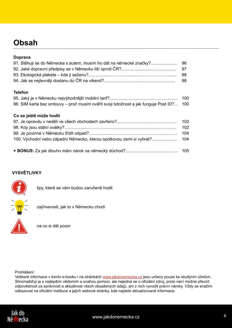 Obsah e-knihy Jak do Německa 4